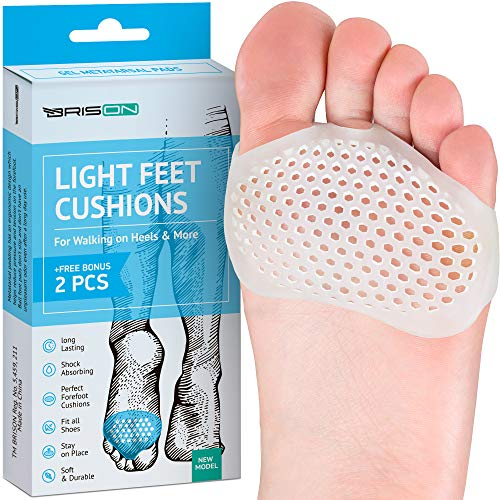 Metatarsal Pads Ball of Foot Cushions - Soft Gel Ball of Foot Pads - Mortons Neuroma Callus Metatarsal Foot Pain Relief Bunion Forefoot Cushioning Relief Women - 1 Pair