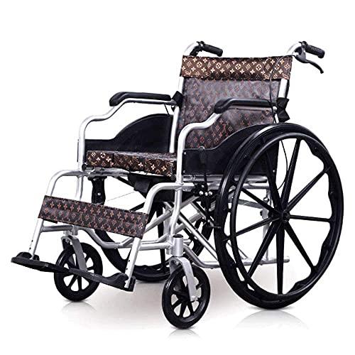 GLXLSBZ Silla de Ruedas - Silla de Ruedas eléctrica Plegable Sillas de Ruedas eléctricas motorizadas Plegable Plegable Power Compact Aid Wheel Chair 10088c (Regalos para Personas Mayores)