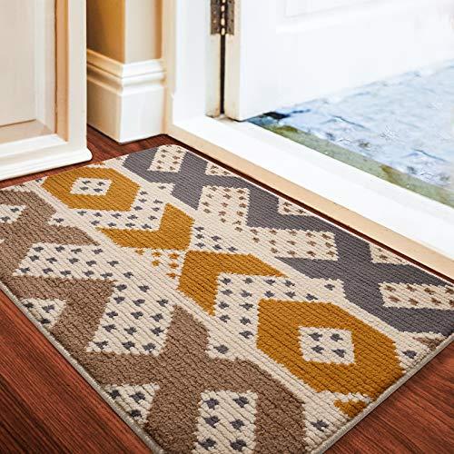 "Color&Geometry Indoor Doormat Front Door Mat 24""x36"" Waterproof, Non Slip Washable Quickly Absorb Moisture and Resist Dirt Rugs for Entrance"