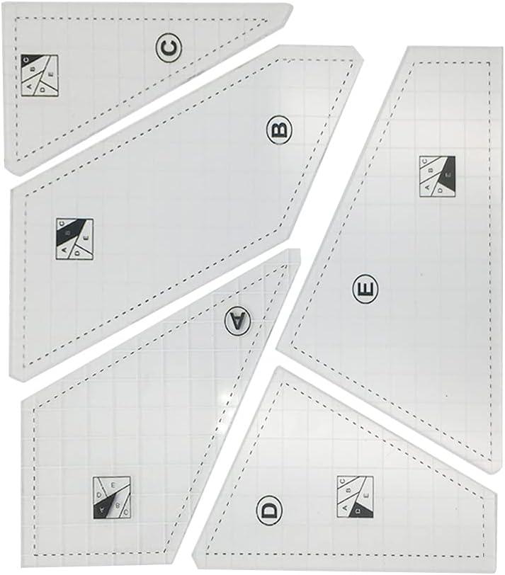 KerDejar Sale SALE% OFF 5 Pieces Pro Tailor Ha Acrylic Ruler Quilting Template Cheap