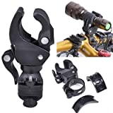 Nascco Universal Bike Bicycle LED Light Flashlight Torch Lamp Mount Clamp Stand Holder