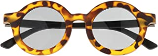 Perfeclan - Perfeclan Gafas de Sol Redondas clásicas Bonitas Gafas de Sol de Playa al Aire Libre para niños pequeños - Leopardo
