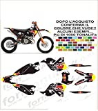 GRAPHICSMOTO set pegatinas decal stickers compatible exc 125 200 250 300 400 450 530 2008 toro (ability to customize the colors)