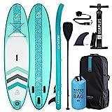 """SEAPLUS Tabla de Paddle Surf Hinchable Sup Inflatable Stand up Paddle Board con Dry Bag CL-G 10'6""""*32""""*6"""" con Inflador/Remo de Aluminio/Mochila/Leash/Fin, Carga hasta 130 Kg"""