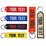 Custom Embroidery Keychain, Personalized Embroidery Any Text Keychain, for Men's gift Motorcycle ATV Car Scooter