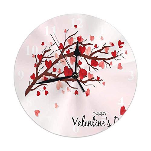 Reloj Pared Redondo Decorativo silencioso,Cuarzo Calidad Requiere 1 Pila AA Feliz día...