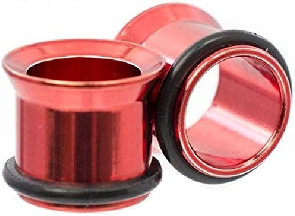 Luxe Ranking TOP16 Modz Tunnels Anodized Metallic Red 2021 model with a Sold - O-Rings as
