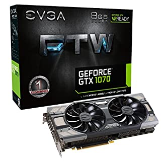 EVGA GeForce GTX 1070 FTW GAMING ACX 3.0, 8GB GDDR5, RGB LED, 10CM FAN, 10 Power Phases, Double BIOS, DX12 OSD Support (PXOC) Carte Graphique 08G-P4-6276-KR (B01HZQVSDO) | Amazon price tracker / tracking, Amazon price history charts, Amazon price watches, Amazon price drop alerts