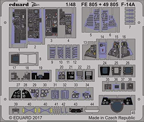 エデュアルド 1/48 ズームエッチングシリーズ F-14A タミヤ用 プラモデル用パーツ EDUFE805