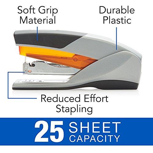 Swingline Stapler, Optima 25, Full Size Desktop Stapler, 25 Sheet Capacity, Reduced Effort, Orange/Gray (66402A) Photo #3