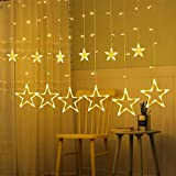 Rideau Lumiere, Guirlande Lumière 12 Étoiles 138 LEDs3M Éclairage Intérieure de Noël Décoration Lumineuse...