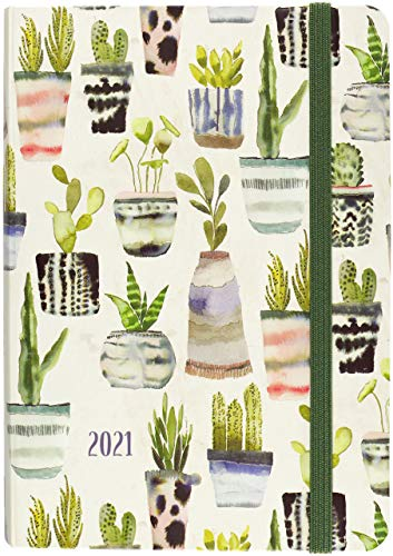 2021 Watercolor Succulents Weekly Planner (16-Month Engagement Calendar)