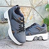 SXFYWYM Patins À roulettes pour Femmes, Enfants - Chaussures À roulettes pour Filles - Chaussures Unisexes avec Roulette - Chaussures De Skate pour Adultes - Chaussures Techniques
