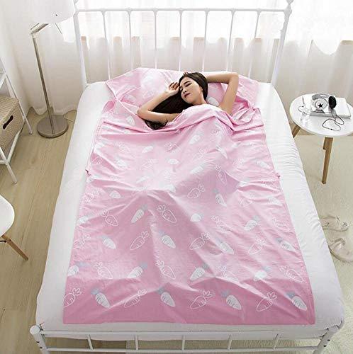 Eastery Dubbele eenpersoons-draagbare envelop, katoenen slaapzak, hotel outdoor, eenvoudige stijl, vier seizoenen, volwassenen, vouwen slaapzak, 4 maten