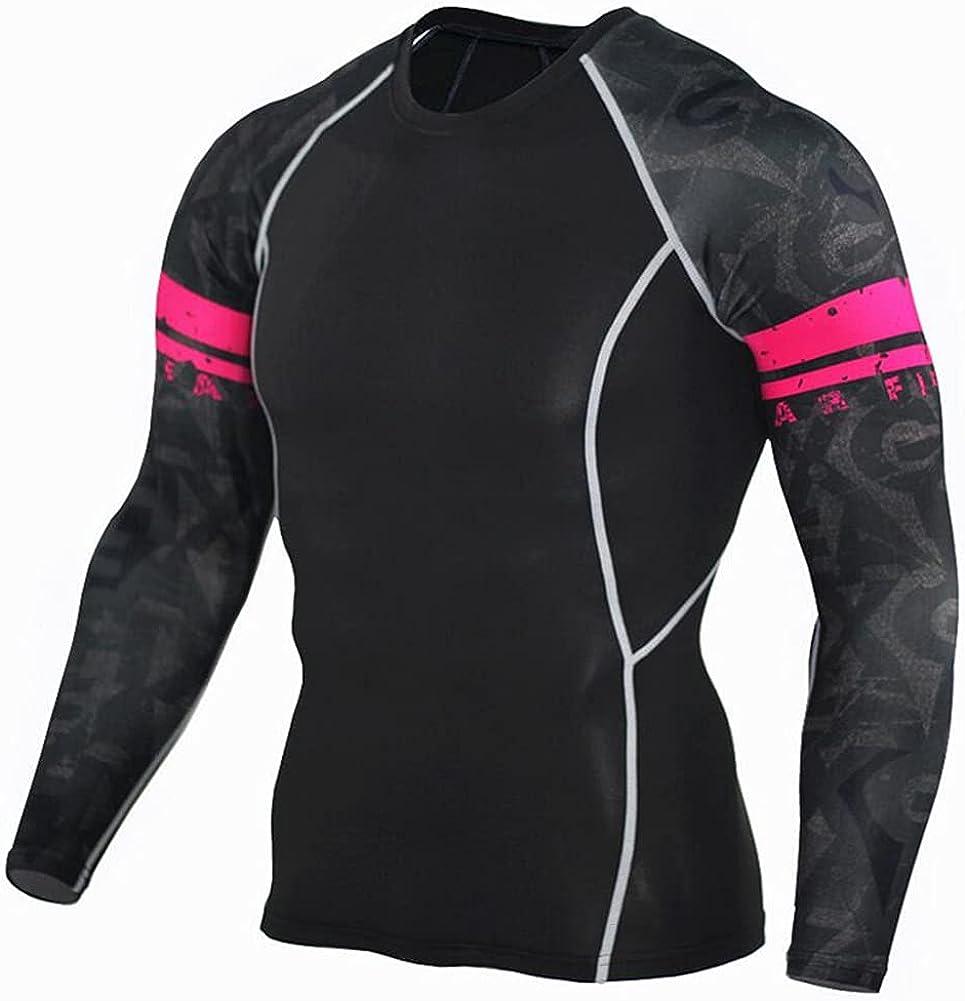 Lilychan Men's Rash Guard Swim Shirt Long Sleeve Sun Protection Compression Tops