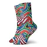 yting Calcetines casuales de la bandera de Sudáfrica con la bandera de América Calcetines de tobillo Calcetines de compresión de vestido corto para mujeres Hombres