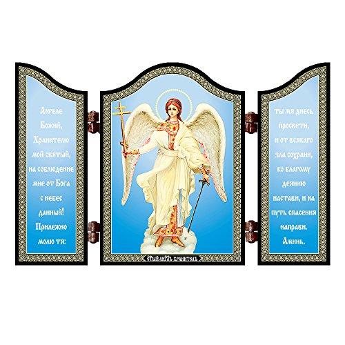 NKlaus 1427 Schutzengel christliche Ikone Diptychon Angel Hranitel' & molitva