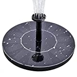 MADETEC Solar Birdbath Fountain Pump, Solar Outdoor Water Fountain Panel Kit for Bird Bath,Small Pond,Garden and Lawn (1.4W), Black