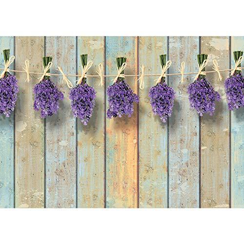 Vlies Fototapete PREMIUM PLUS Wand Foto Tapete Wand Bild Vliestapete - Holzwand Bretter Lavendel - no. 3099, Größe:416x254cm Vlies