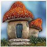 Dibujos Animados Lindo Colorido Seta Casa﹣Juego De Pintura De Diamantes 5Dpara Manualidades Con Cristalesdecoración De Pared,﹣50X50Cm(Sin Marco)