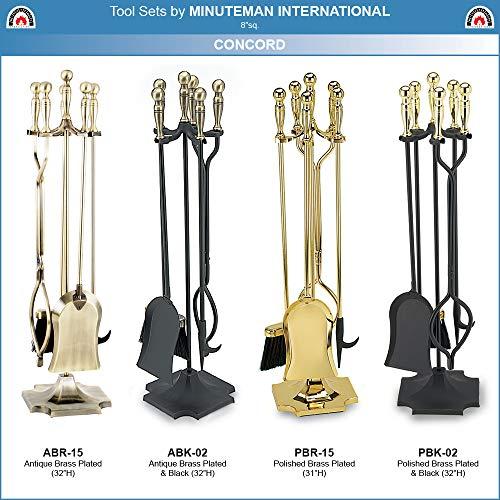 Minuteman International Concord 5-piece Fireplace Tool Set, Polished Brass
