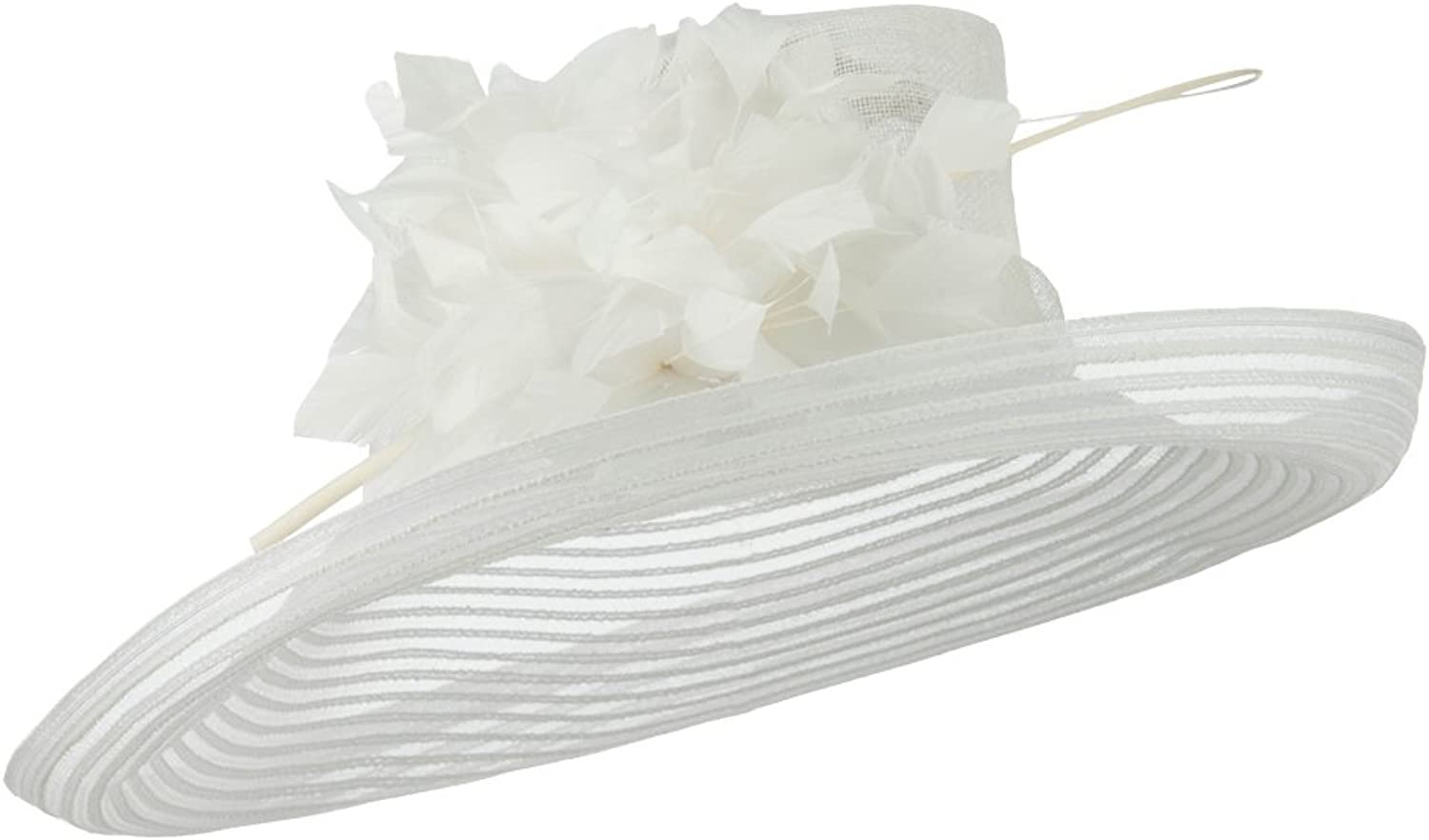Fashion Sinamay Hat with Crin  White