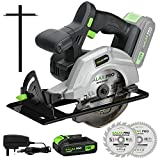 GALAX PRO 140mm Cordless Circular Saw 20V with 2 Blades (18T+48T), 3800RPM Variable Speed, Includes 2.0Ah...
