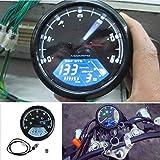 RONGLINGXING Pieces de Sport Motorise LED compteur moto numérique tachymètre compteur kilométrique Compteur...