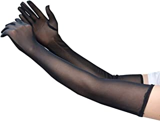 Sexy Extra Long 21.2 in Sheer Gloves for Women Girl Opera Halloween Costume Wedding Bridal