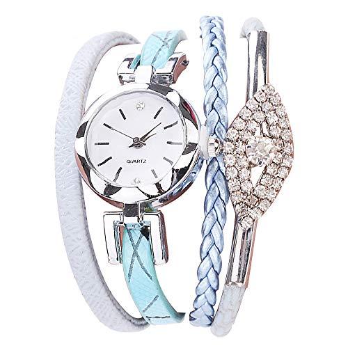 SoonerQuicker Uhr Armbanduhr Quartzuhr Frauen Uhren Mode Damenuhr Beiläufig Armbanduhren Analoge Quarz Kunststoff Lederband Wasserdicht Günstig Geschäft Geschenke, Geschenke Für Frauen