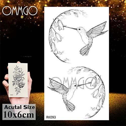 5Pcs- diamante geométrico tatuaje para las mujeres de los hombres pegatina tatuaje tatuajes arte de la muñeca del cuerpo del brazo Negro Flecha Line-In tatuaje En G Ork093