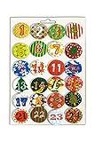 HEITMANN DECO Adventskalender Buttons - 24 Zahlen für Adventskalender DIY - zum Anstecken an Filz...