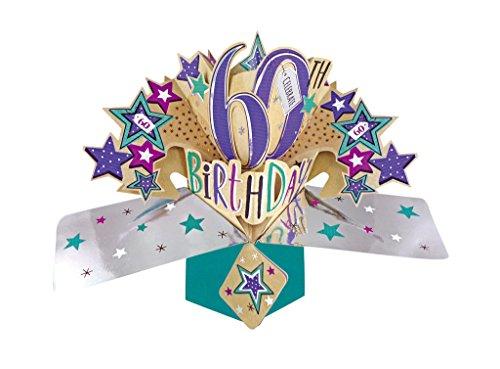 Second Nature Pop Ups Carte d'anniversaire 60ans
