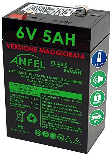 Batteria al piombo 6V 4,5Ah ricaricabile ermetica faston 4,8mm 4,5Ah 5Ah per lampade emergenza