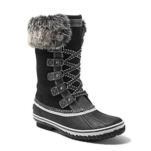 Eddie Bauer Women's Hunt Pac Deluxe Boot, Black Regular 6.5M