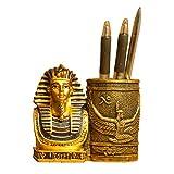 KKUUNXU Portapenne Egiziano Antico Home Studio scrivania Arredamento Decorazioni Regali portapenne Faraone Arredamento per Ufficio
