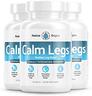 Sponsored Ad - Native Origins Calm Legs Natural Sleep Aid for Natural Itching, Crawling, Tingling and Leg Jerk Relief with...