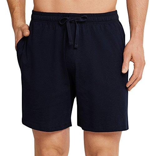 Schiesser Herren Mix & Relax Bermuda Schlafanzughose, Blau(Blau), Large (Herstellergröße: 052)