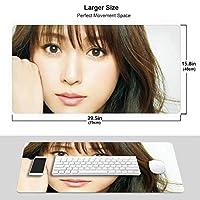 羽生結弦 マウスパッド 光学マウス対応 パソコン 周辺機器 超大型 防水 洗える 滑り止め 高級感 耐久性が良い 40*75cm