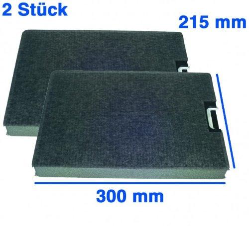 2 Kohlefilter 300x215mm, passend zu Geräten von: Miele, Imperial. orig. 3284682 DKF6