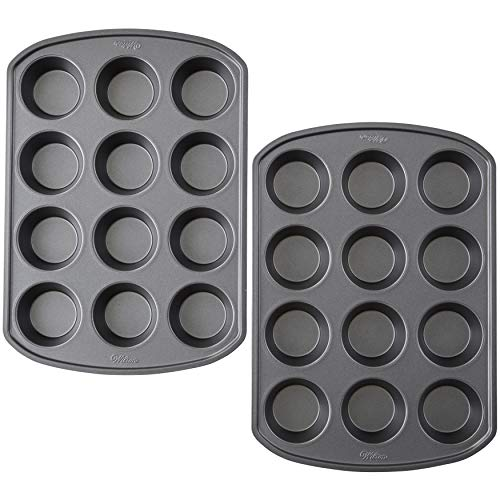 Wilton Perfect Results Premium Non-Stick Bakeware 12-Cup Muffin Pan, Multipack of 2