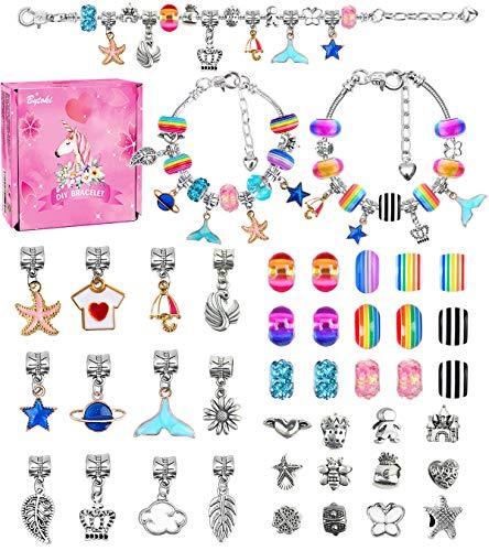 Regalo de Juguete para Niña de 8-12 Años, Kit de Fabricación de Joyas para Niña 8 9 10 11 12 Años Kit para Hacer Joyas para Niñas Juegos de Artesanías para Niños Juego de Regalo para Niña 8-12 Años