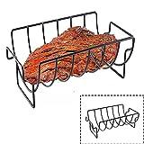 Spareribs Halter BBQ Grill, Metall Spare Rib Halter, Rippchenhalter Grillen, Grillkorb Werkzeug Aus Edelstahl für Fisch, Steak, Gemüse, Hühnchen, Burger