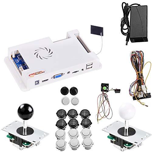 TAPDRA 4018 Juegos Pandora 3D WiFi Arcade Board Kit de Bricolaje Completo hasta 4 Jugadores Kit de Bricolaje Soporte Descargar hasta más de 10000 Juegos con Botones Cable de arnés