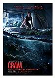Póster de la película Fullfillment de Crawl con impresión Brillante para Pared Kaya Scodelario, Barry Pepper Alligators tamaños 8 x 10 11 x 17 16 x 20 22 x 28 24 x 36 27 x 40#1
