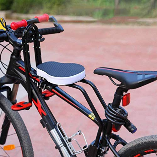 Asiento de Bicicleta Delantero para Niño | Asiento Infantil Delantero Plegable con Reposabrazos y Pedal | para Niños de 2 a 6 años - MAX 50 KG (Black)