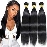 LVY extensiones de cabello natural 8A pelo natural humano recto cabello brasileño virgen 3 paquetes 10 12 14 pulgada 100% extensiones pelo natural