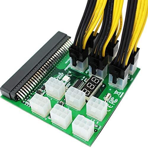 Shubiao PCI Express Grafikkarten-Netzkonverter-Adapterkabel, 6-polig auf 8-polig (6+2), 22 cm Miner-Kabel