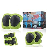 DEEWISH Kids Protective Gear Set, 6-in-1 Knee, Wrist And Elbow Pads, Suitable ForIce Skating, Inline Skating, Cycling, Skateboarding outdoor sports