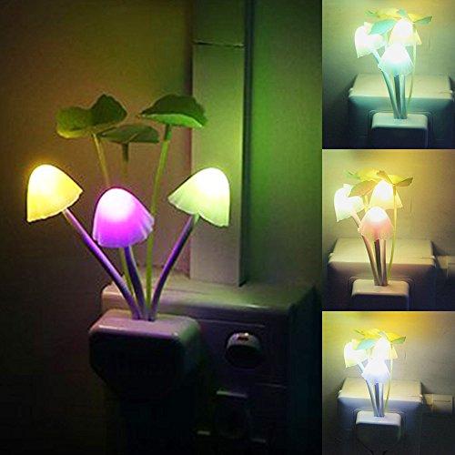 Nachtlicht mit Smart Sensor, romantische Farbwechsel, Pilz Lotus Leaf Lampe.